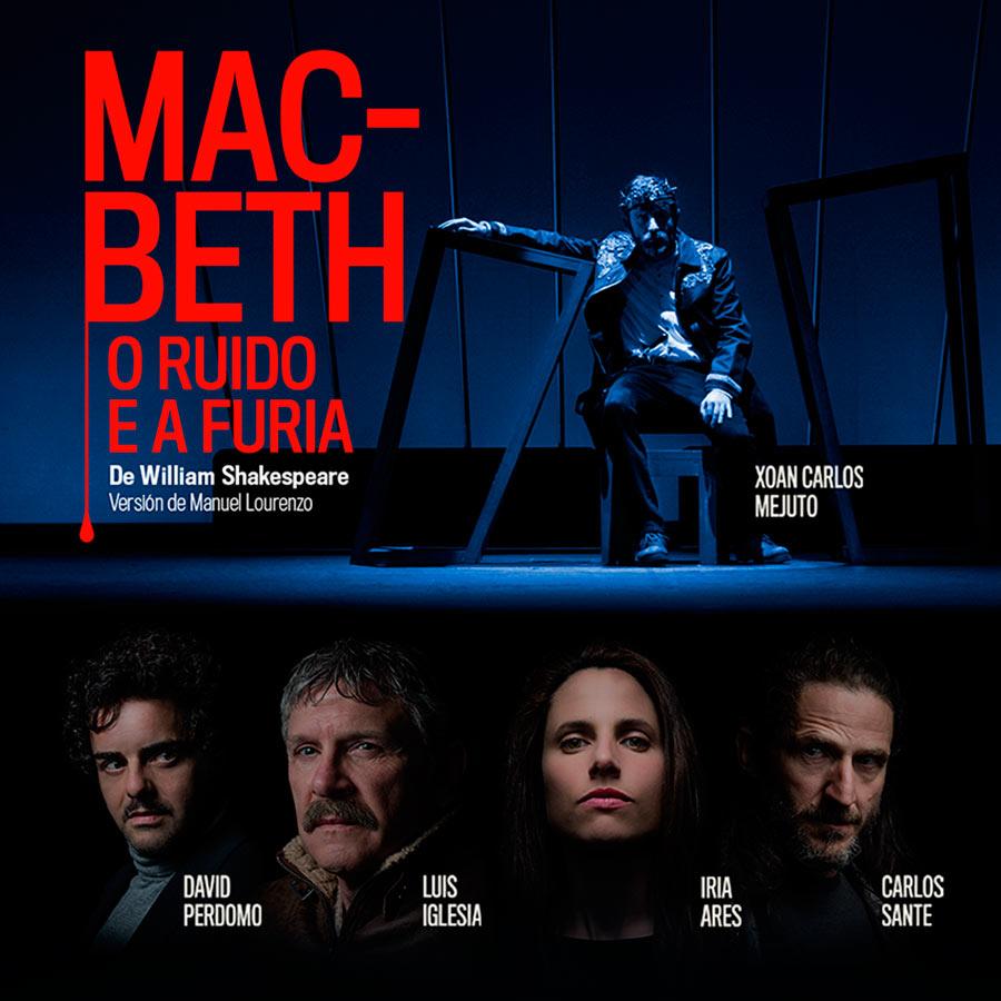 Diseño de cartel promocional Macbeth en galego