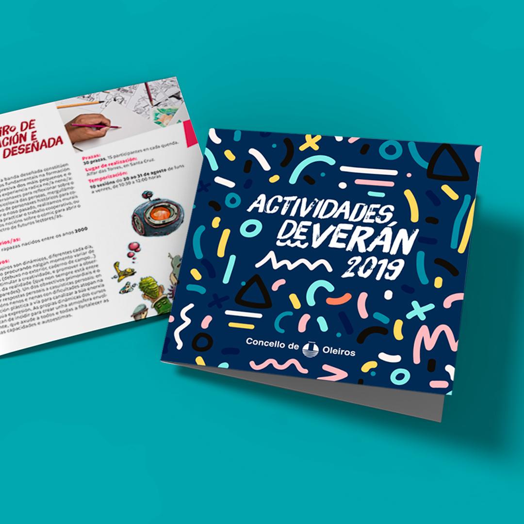 Diseño y maquetacion revista de actividades Concello de Oleiros