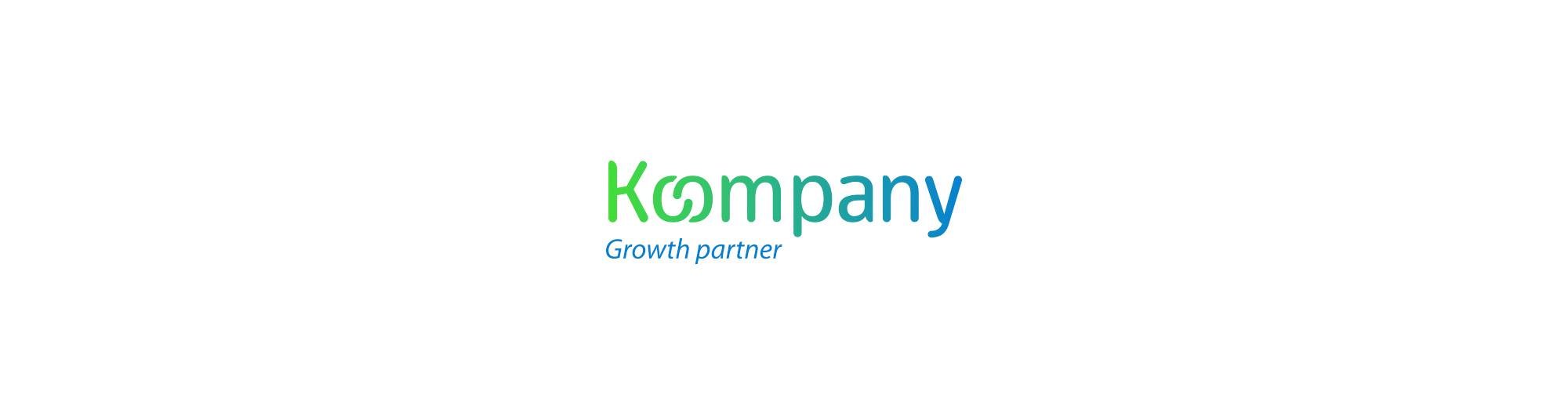 Logotipo diseñado para la marca koompany, empresa gallega de marketing digital