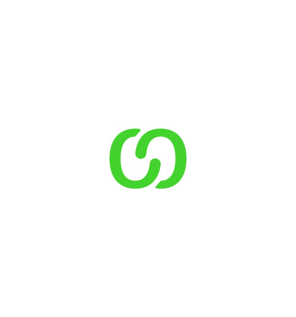 Símbolo de la marca Koompany realizado a partir del enlace de dos letras del logotipo como símbolo de unión entre cliente y empresa