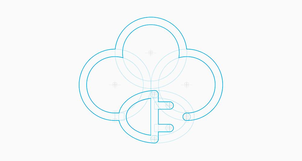 Símbolo para la nube eléctrica, tienda online de electrodomésticos