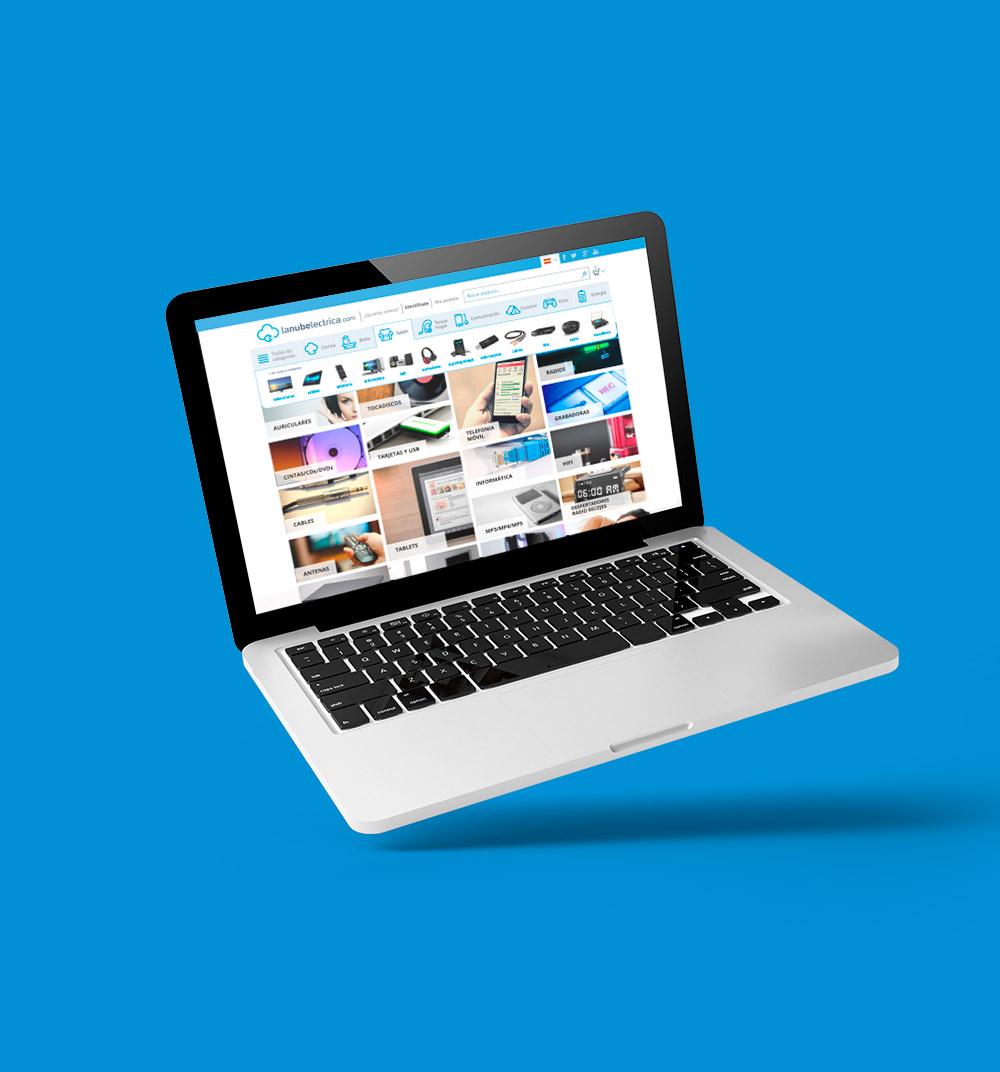 Diseno web de la tienda online adaptada a diferentes pantallas