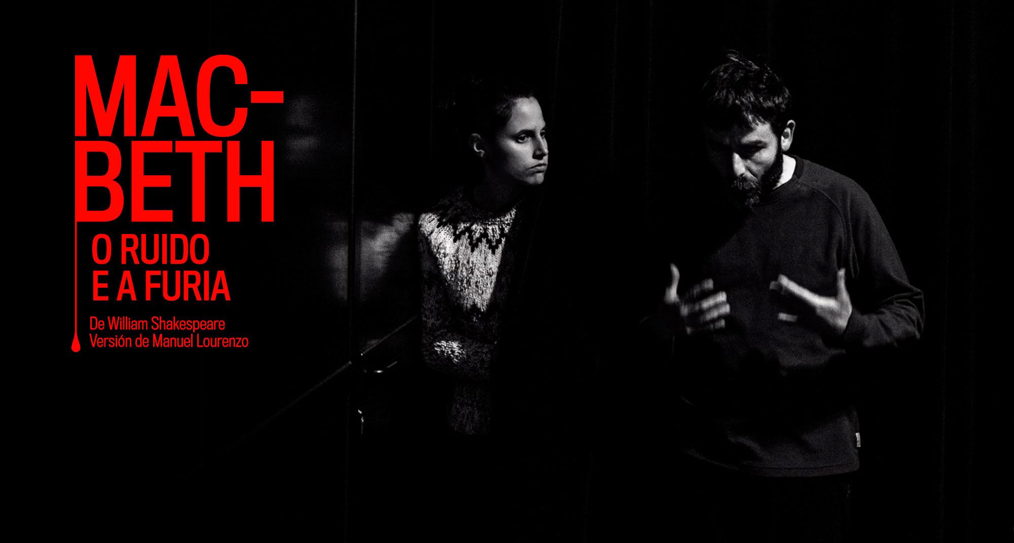 Gráfica promocional de Macbeth en gallego