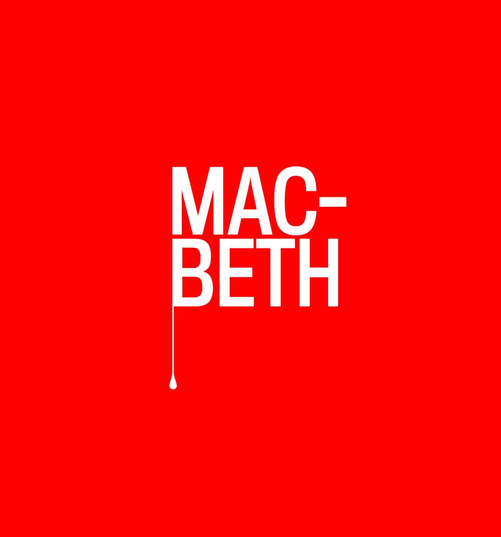 Diseño de gráfica de obra de teatro Macbeth