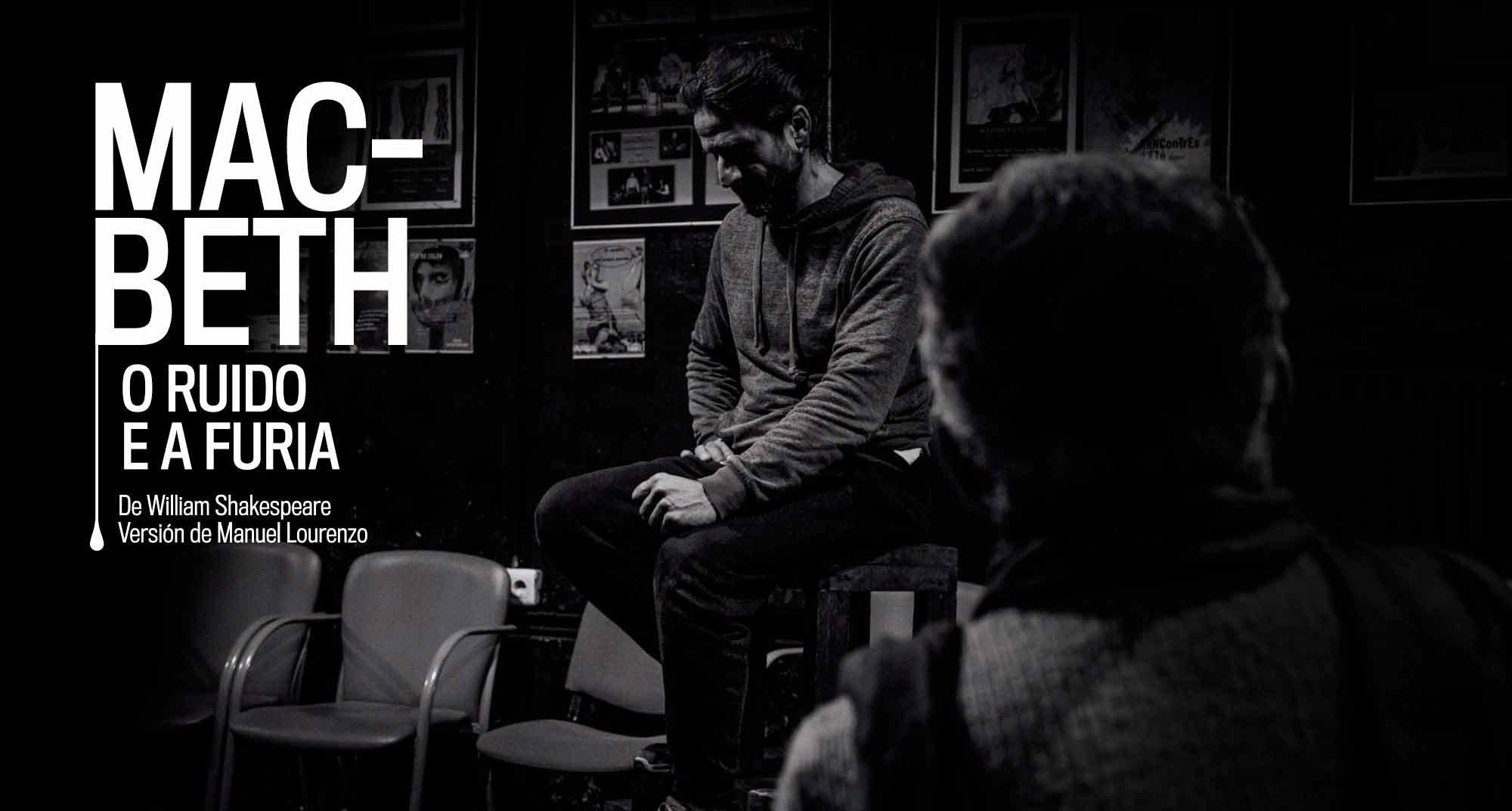 Carátula de obra de teatro Macbeth en gallego
