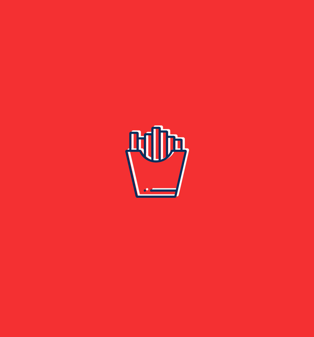 Diseño de iconos para la hamburguesería Pick & Go