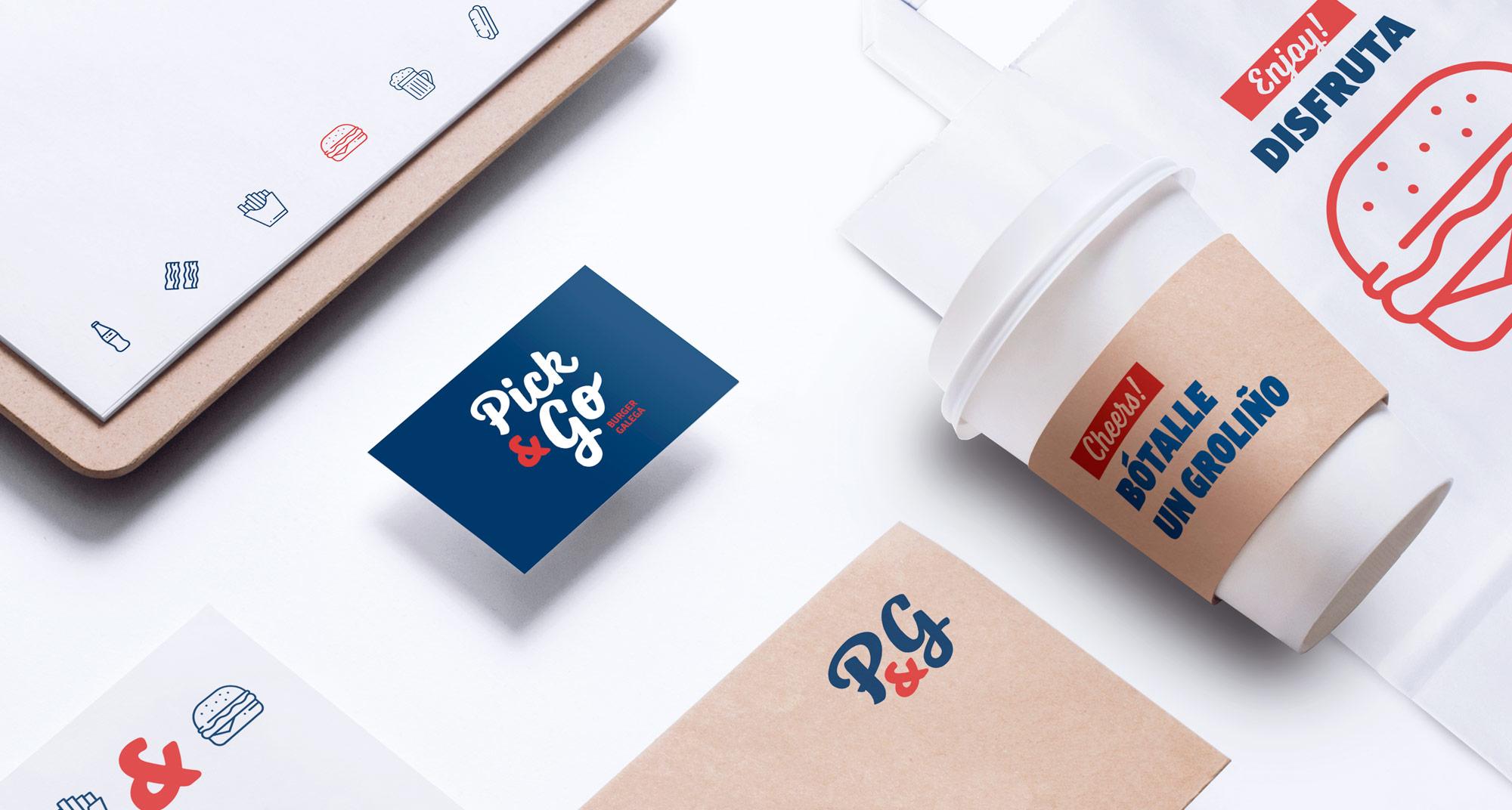 Diseño de las aplicaciones de la marca PickandGo