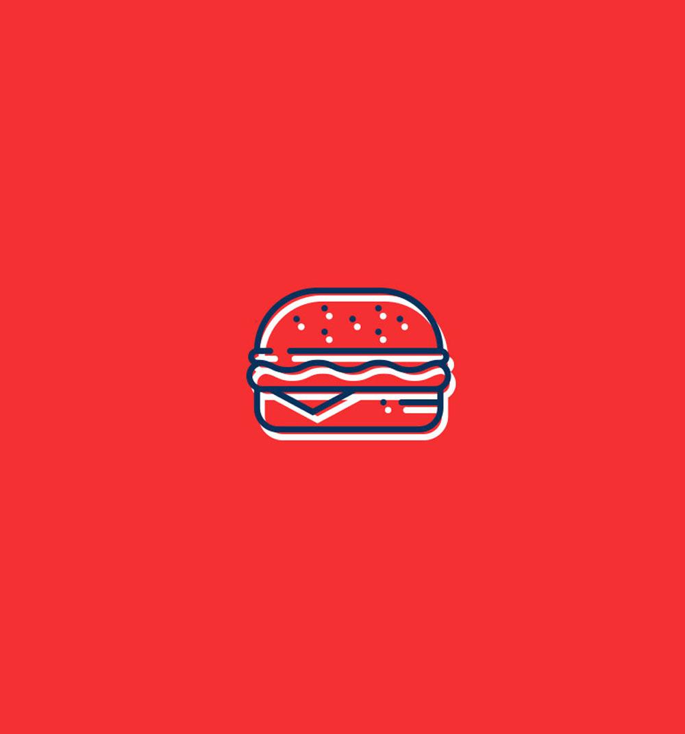 Diseno de icono para hamburguesería Pick and Go