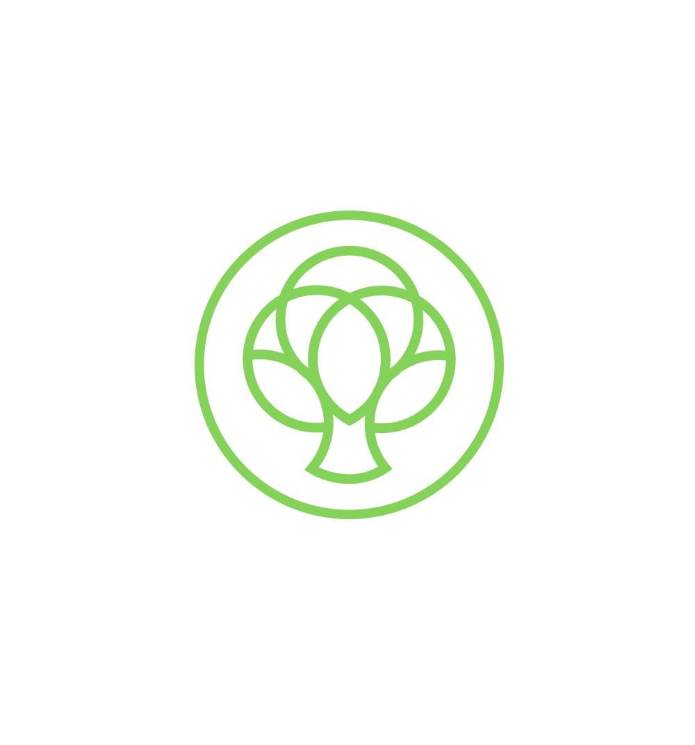 Icono árbol resultado del rediseño de la nueva marca de la ecotienda