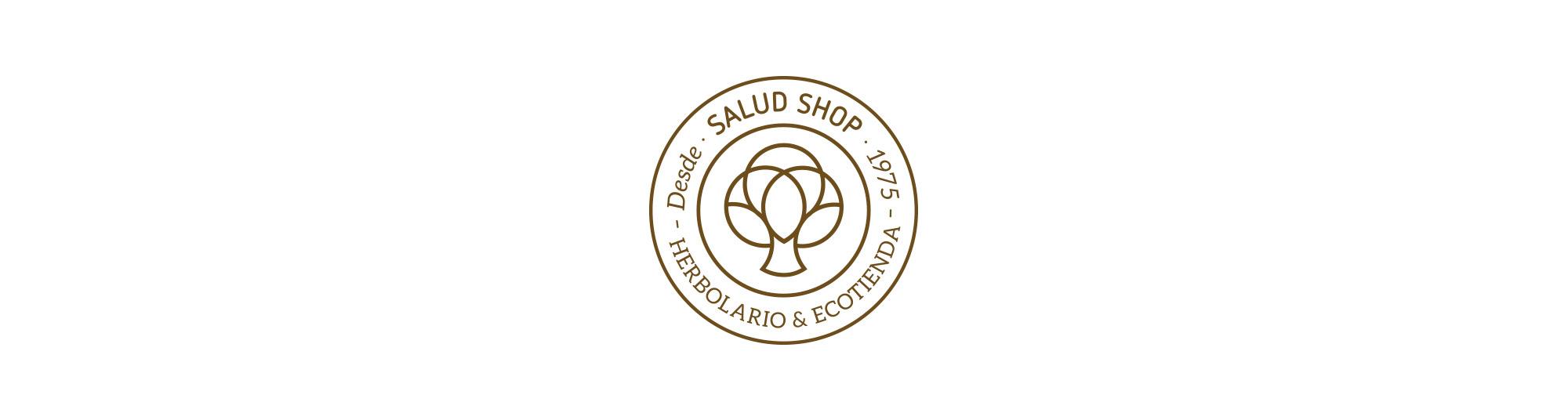 Diseño del escudo del herbolario Salud Shop