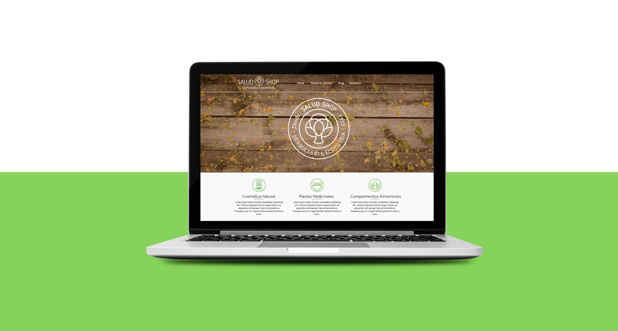 Diseño web para la tienda de saludshop