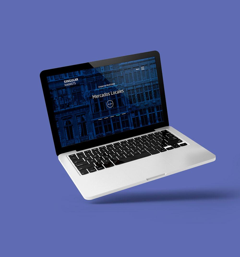 Página web responsive para empresa de activos inmobiliarios
