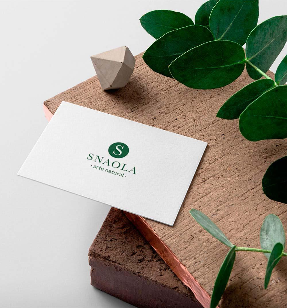 Diseño tarjeta de visita peluqueria Snaola