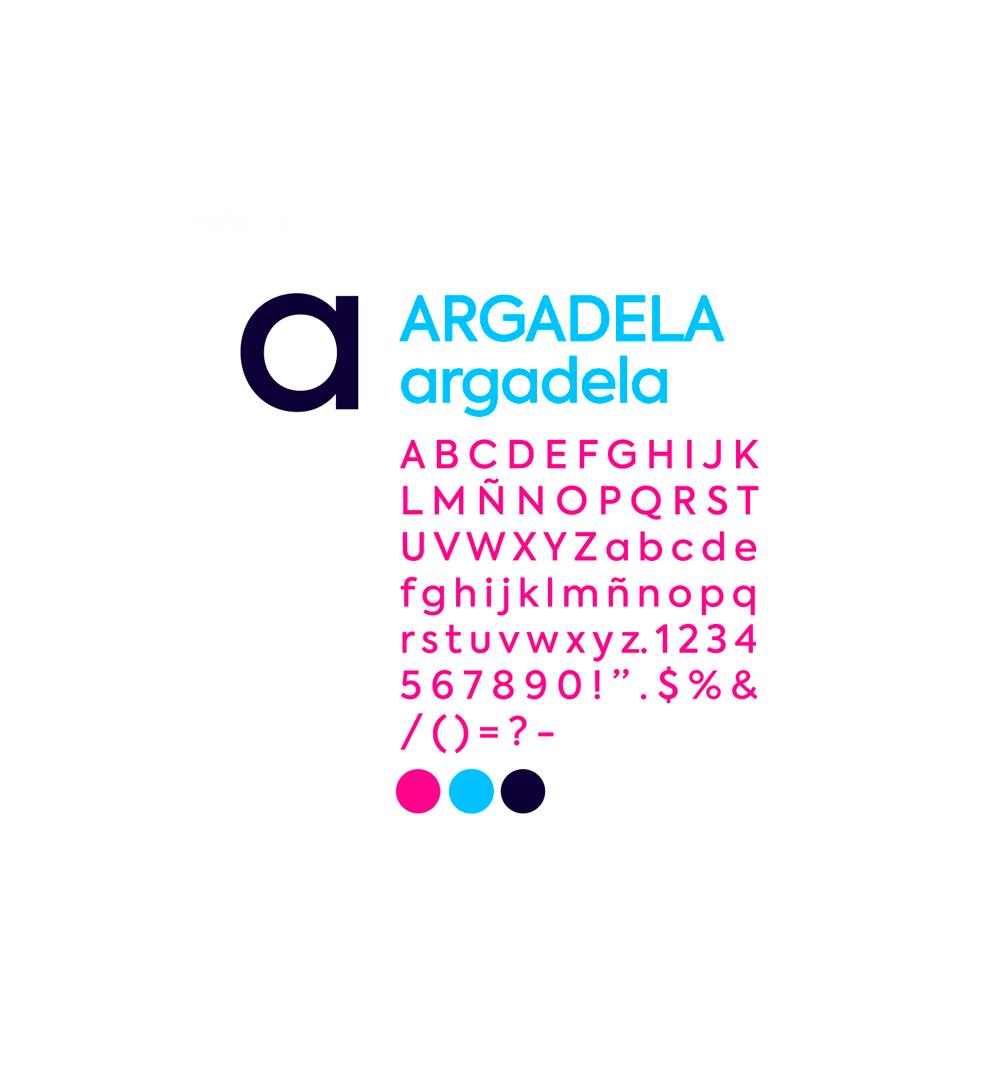 tipografía corporativa para proyecto Argadela