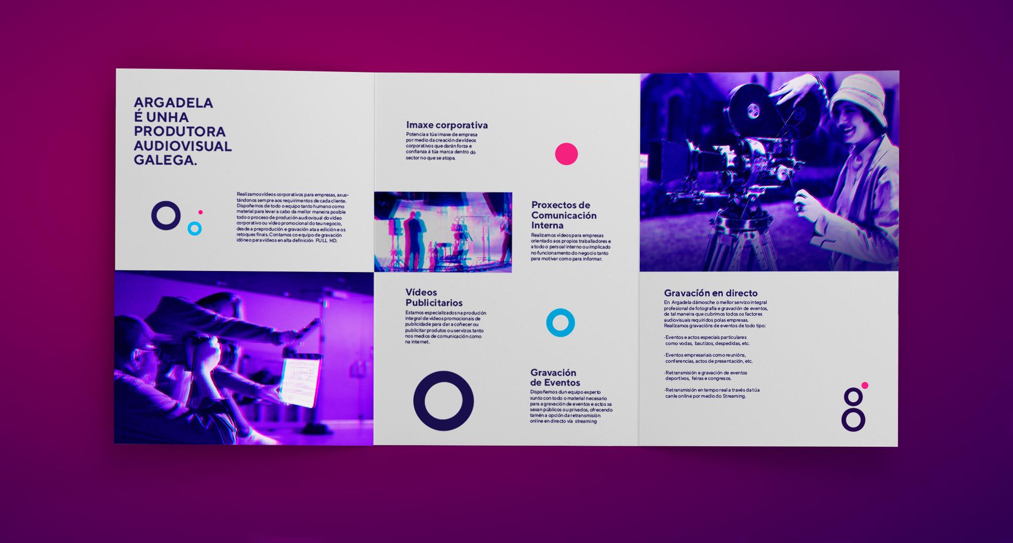diseño de Flyer con los servicios de la productora