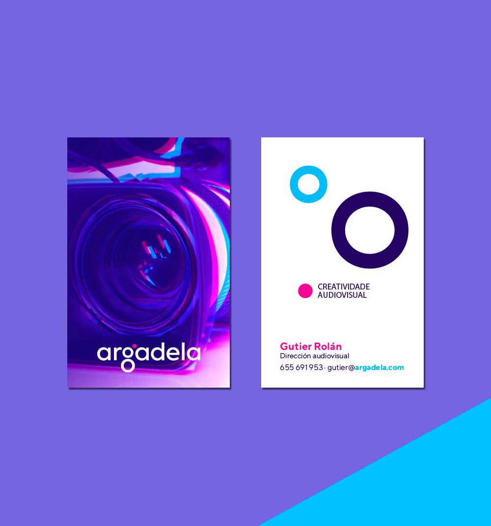 Diseño de tarjeta corporativa para Argadela
