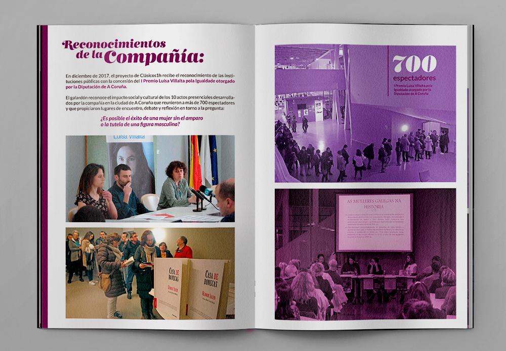Diseño de publicación editorial para el reconocimiento de la Diputación de A coruña
