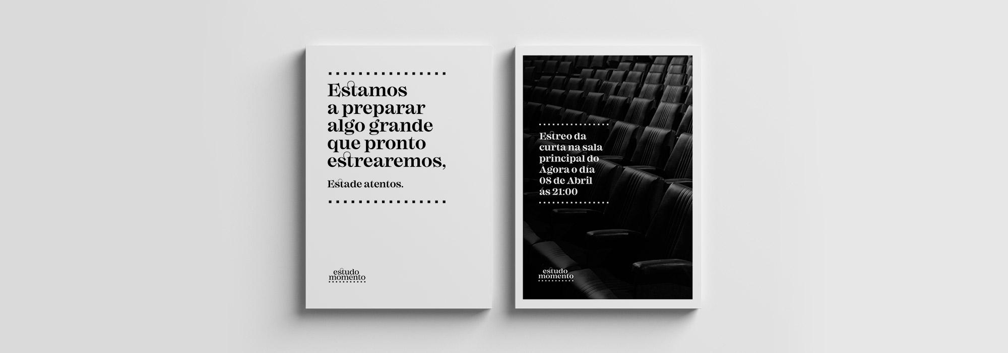 Diseño cartel de productora Estudo Momento