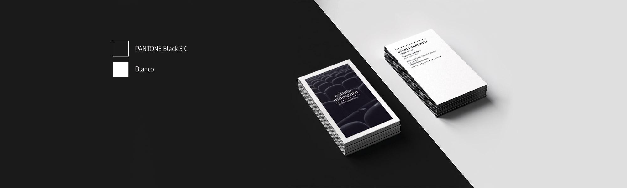 Diseño de tarjetas corporativas para Estudo Momento