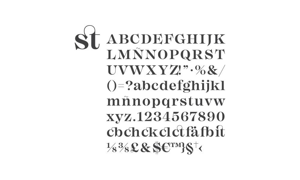 Tipografía elegida para el branding de Estudo Momento