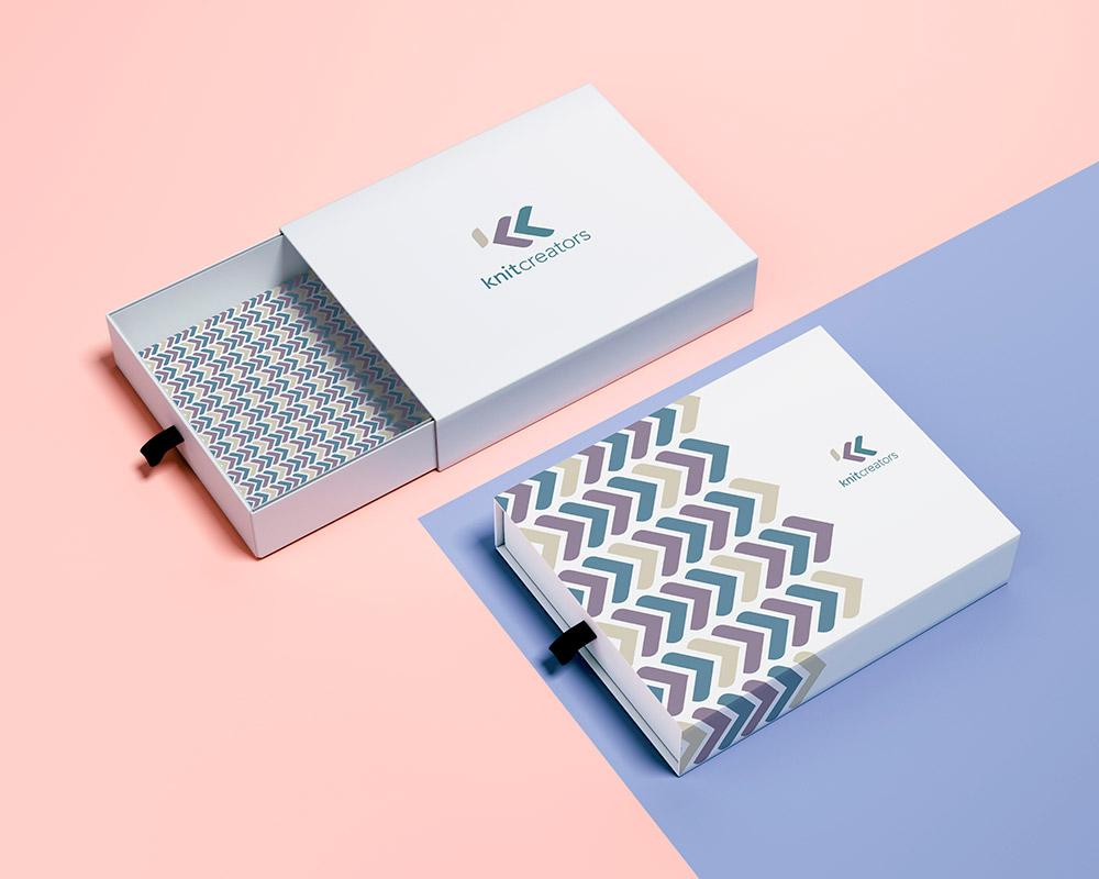 Diseño de packaging Knitcreators