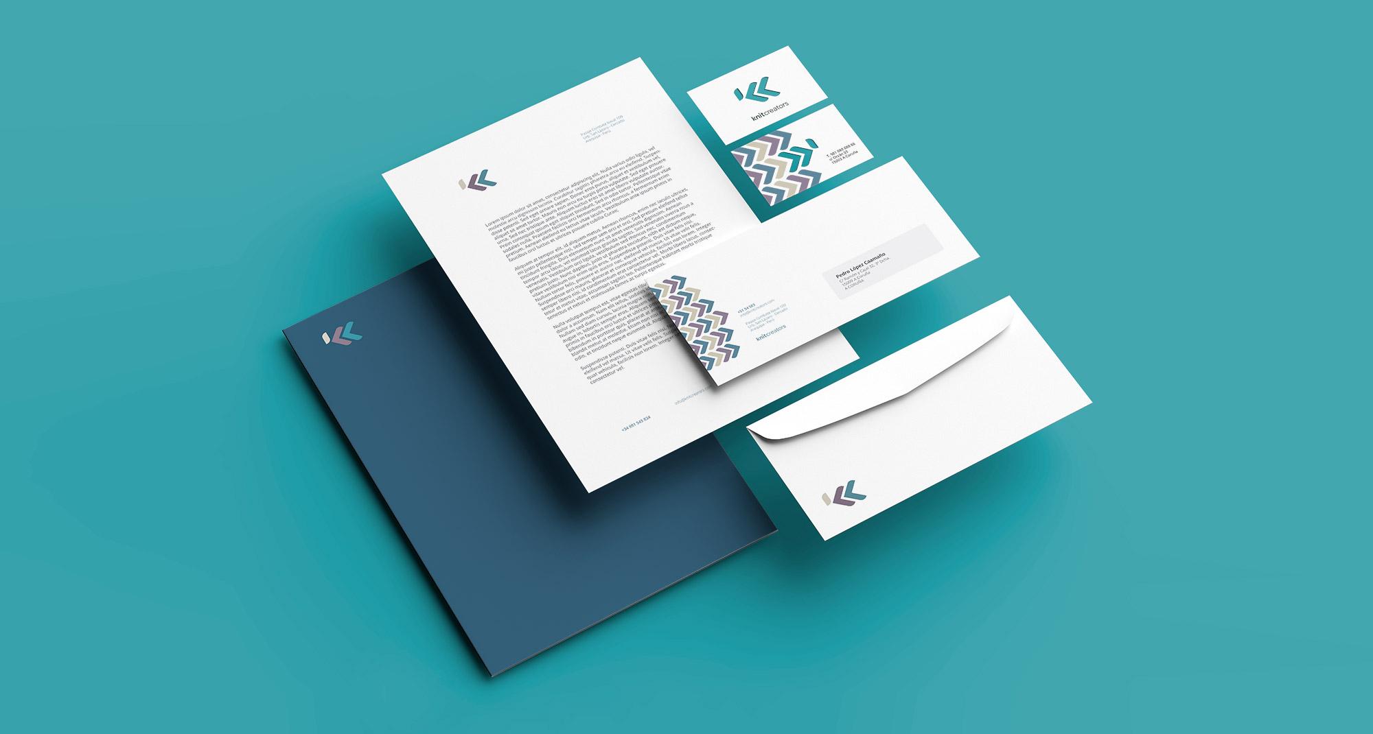 Diseño de papeleria de marca