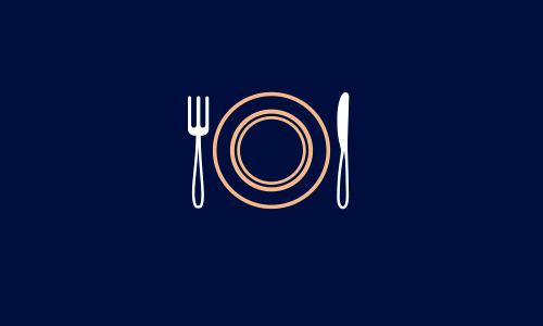 Diseño de icono de restaurante La Mansión