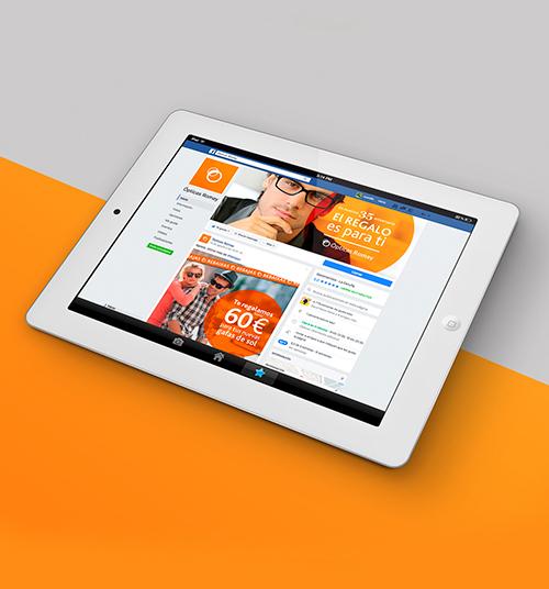 Marketing digital para redes sociales de la marca, imagen del perfil de facebook