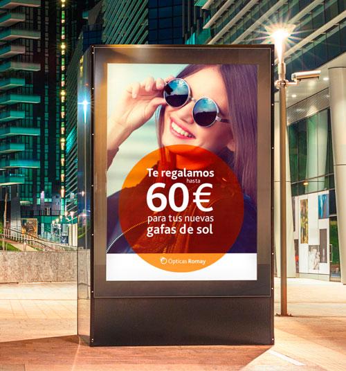 Diseño de poster para la publicidad exterior de las calles de A Coruña