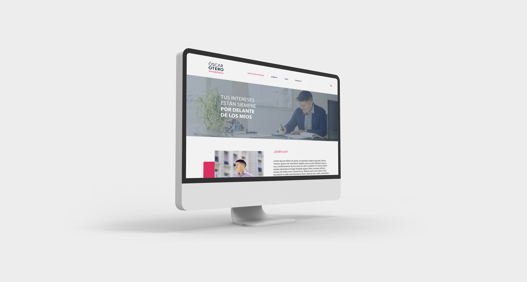 diseño de la página web personal de la inmobiliaria