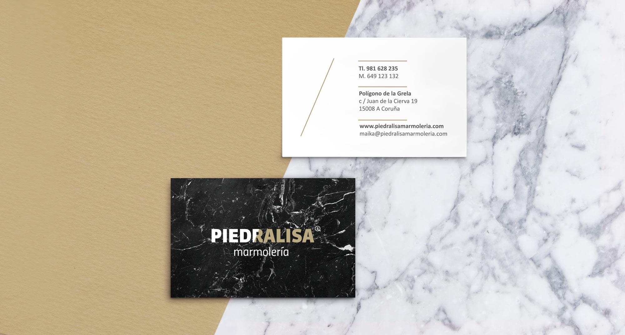 Línea gráfica y diseño para la marca de la marmolería Piedralisa