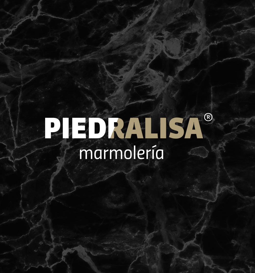 Diseno de logo para marmoleria Piedralisa en A Coruna
