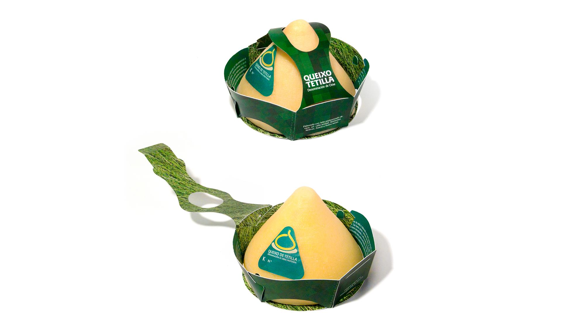 Packaging para el Queso de tetilla, un queso típico de Galicia