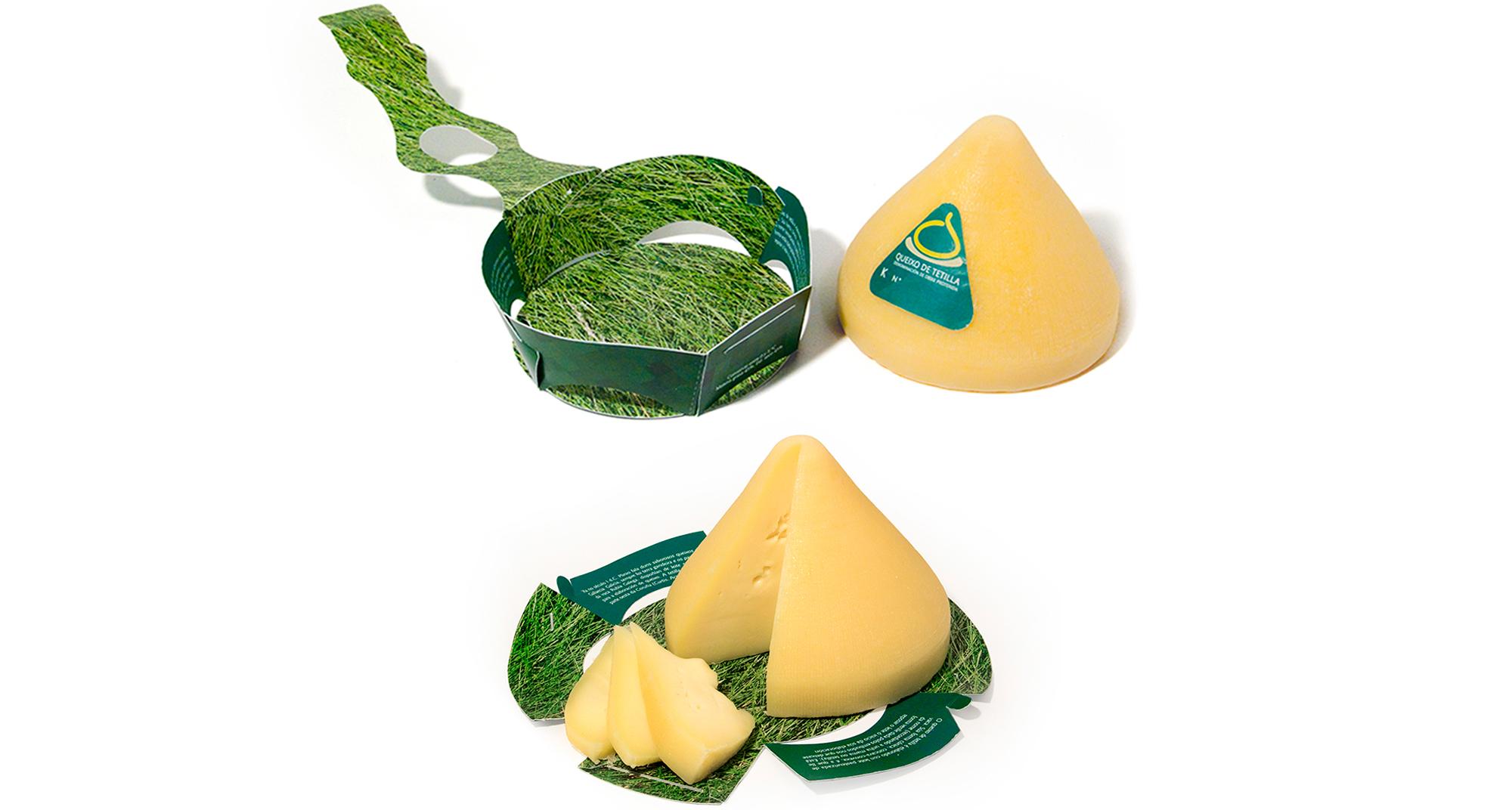 Diseño interior y desarrollo del envase para el queso de Tetilla
