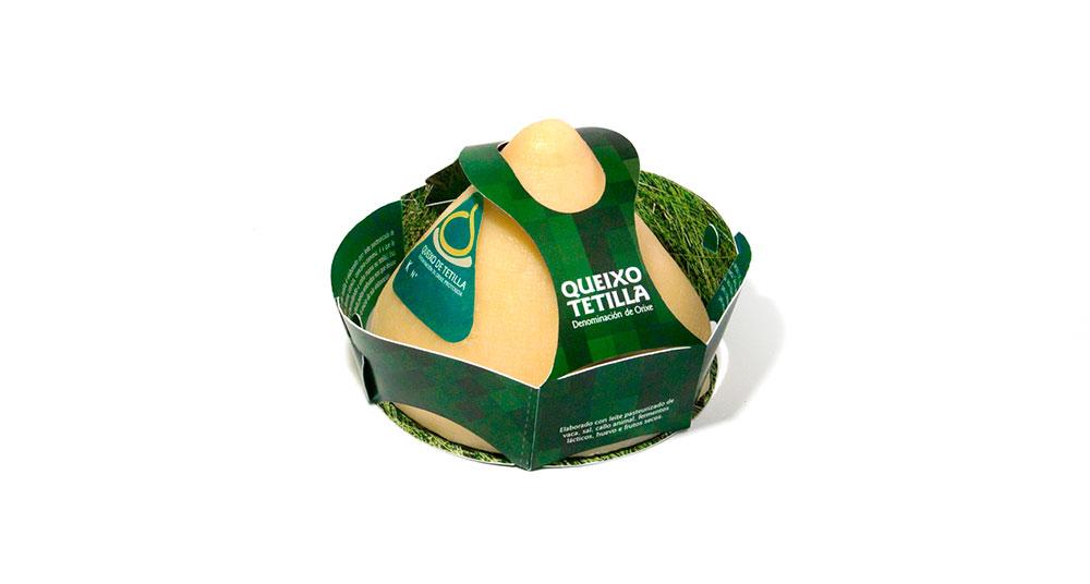 Diseno de packaging para queso de tetilla de Galicia
