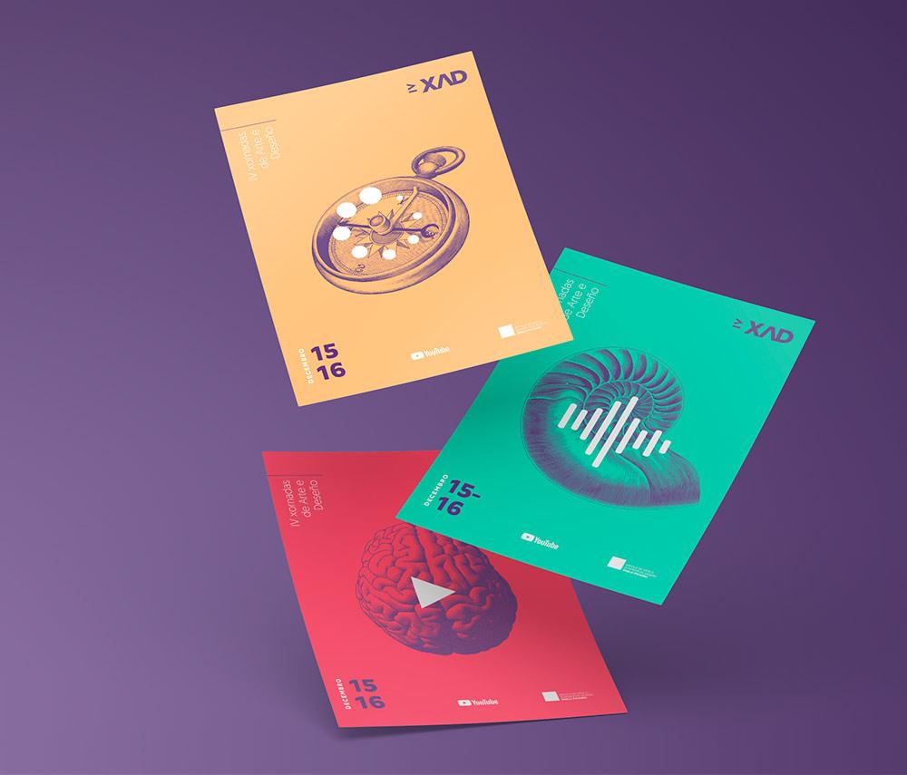 Diseño folleto programa Xornadas Deseño