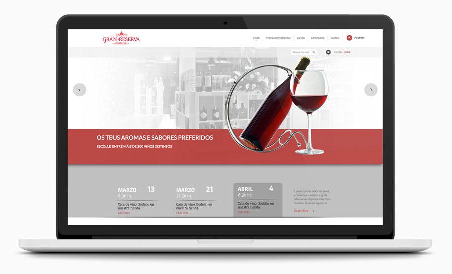 Diseño Tienda online Gran Reserva Enotecas
