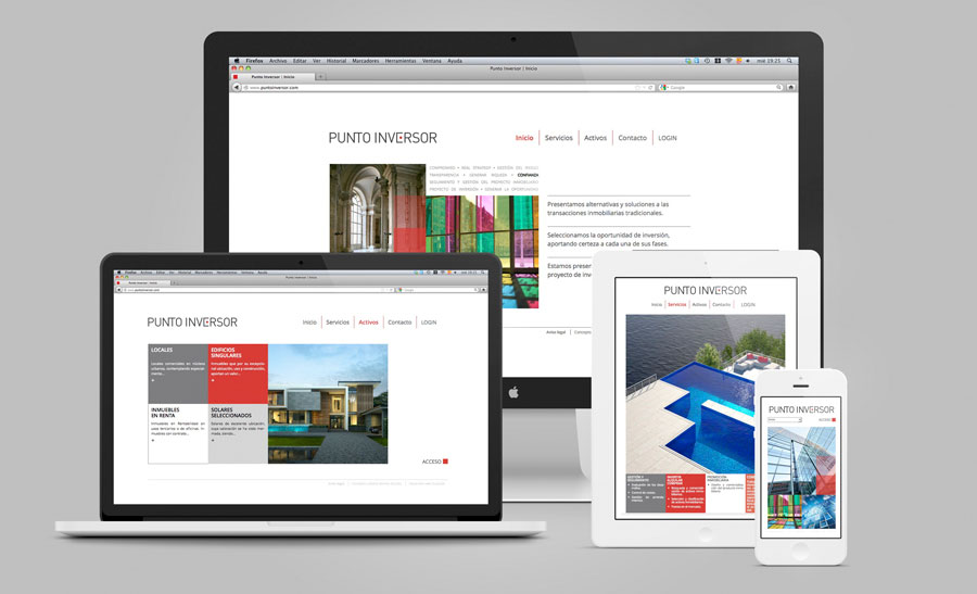 Diseño web responsive dispositivos móviles Punto Inversor