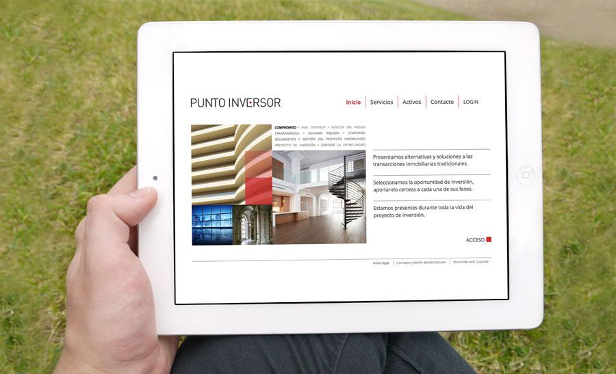 Diseño web tablet Punto Inversor