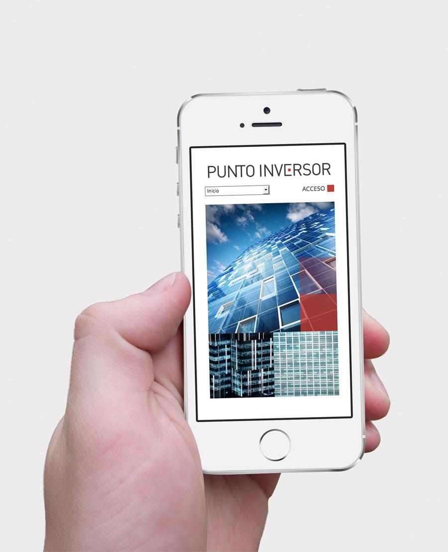 Diseño web Punto Inversor por Bombo Estudio