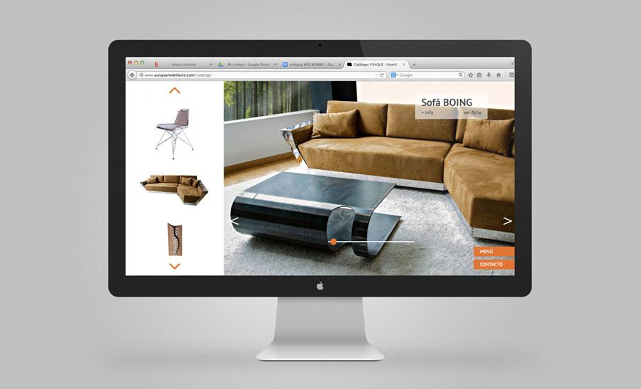 Diseño web adaptativo Yunque Mobiliario