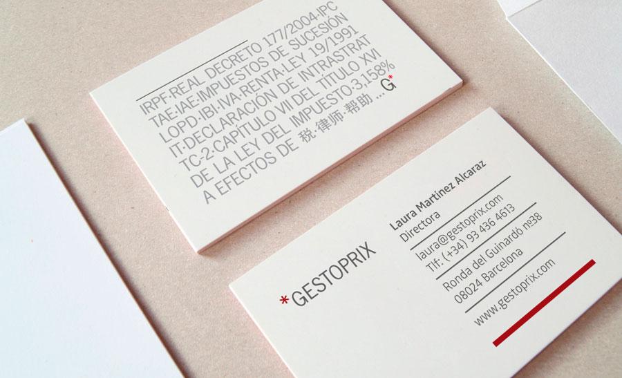 Diseño tarjeta Gestoprix asesoria