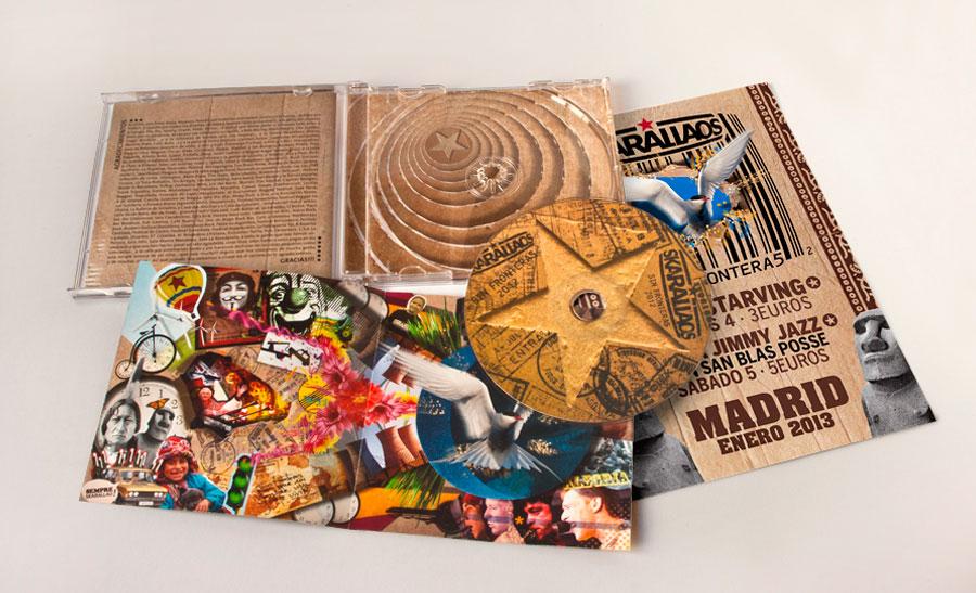Diseño carátula disco Skarallaos