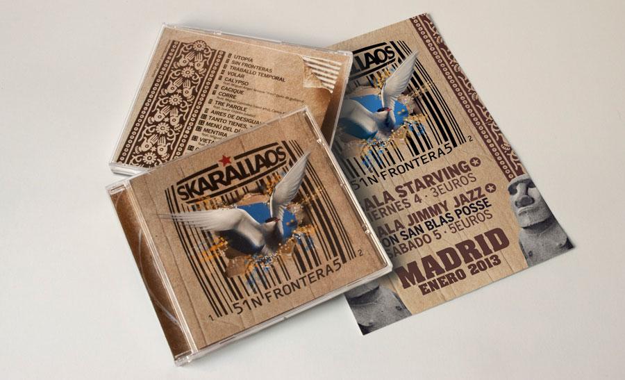 Diseño carátula y cartel concierto Skarallaos