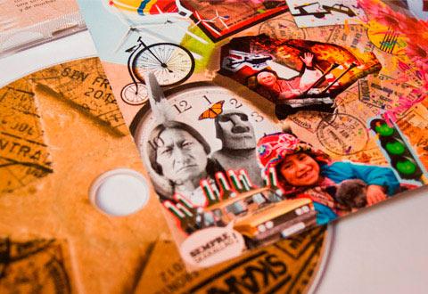 Diseño carátula cd Skarallaos por Bombo EStudio