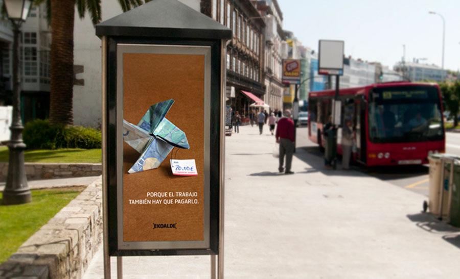 Cabina campaña promoción comercio justo Ekoalde
