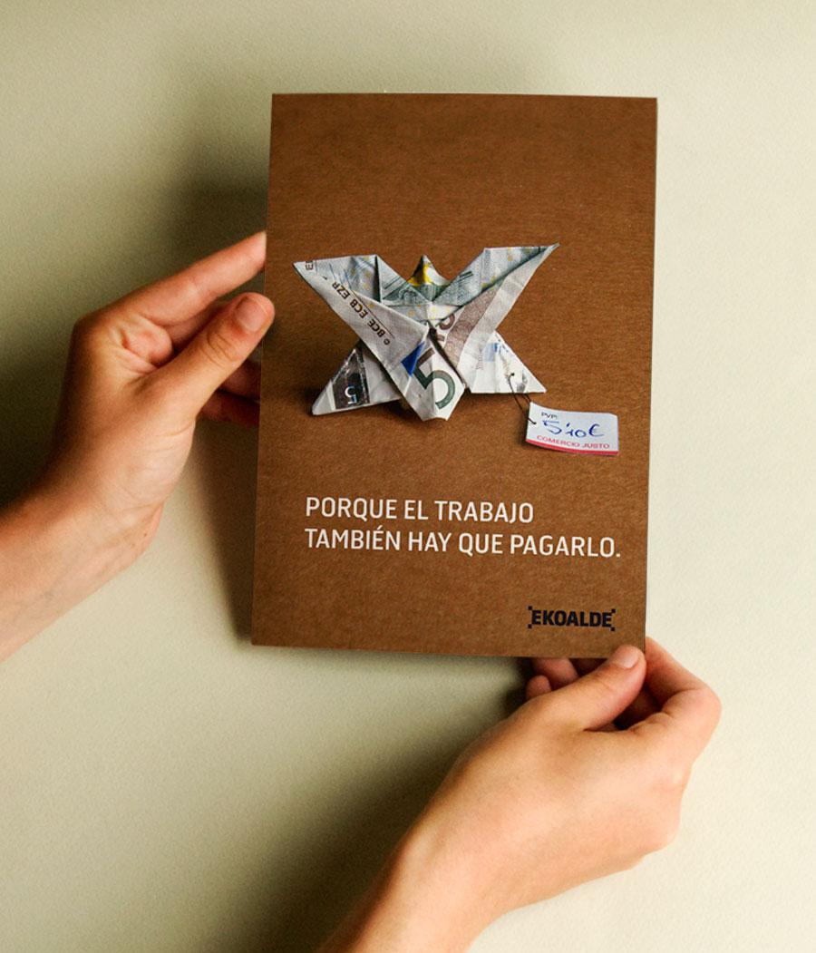Diseño folleto comercio justo