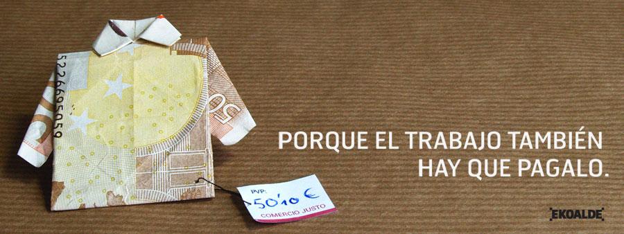 Diseño valla promoción Ekoalde Comercio Justo