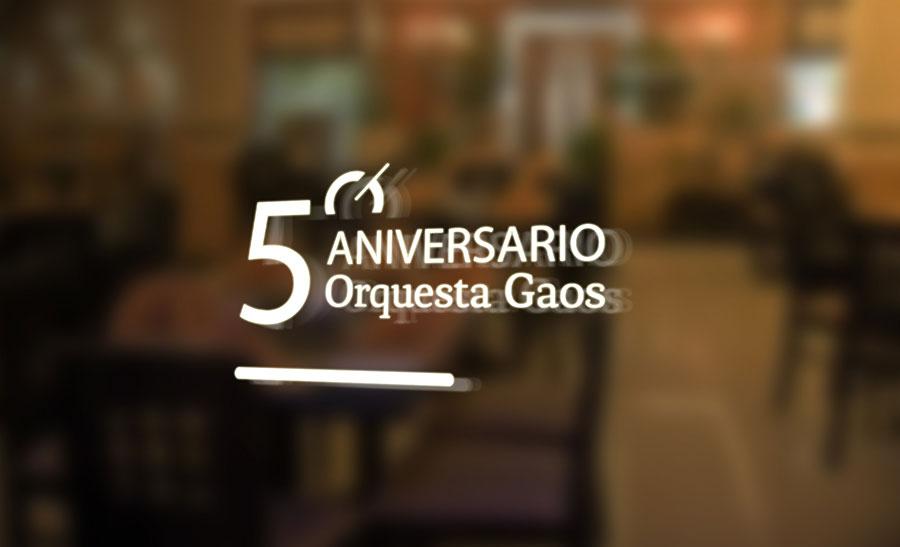 Logotipo conmemorativo aniversario Orquesta Gaos