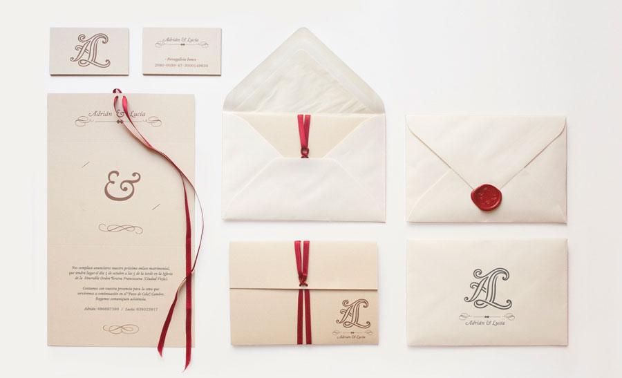 Diseño invitación boda Adrián y Lucia
